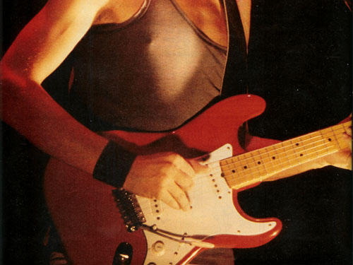 Maple neck Strat, white pickguard